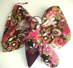 Fun Pink Floral ShooBag/ShooStuffer Set by shoesies4u on Etsy, $23.00