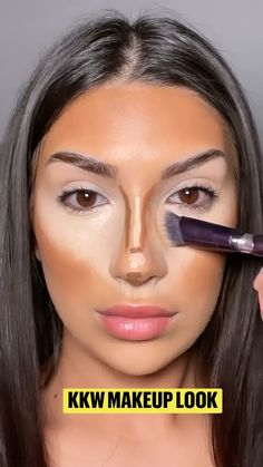 Le Contouring, Contour Makeup, Skin Makeup, Eyeshadow Makeup, Beauty Makeup Tips, Love Makeup, Simple Makeup, Natural Makeup, Makeup Looks Tutorial
