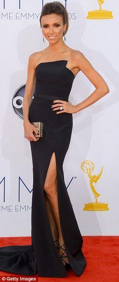 Giuliana Rancic in Romona Keveza at the 64th #Emmys