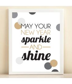 Confetti 'May Your New Year Sparkle and Shine' print poster