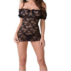 Hot Sexy Lingerie Lace Black Sex Products Erotic Lingerie Costume Women Transparent Sexy Sleepwear Adult Badydoll Underwear