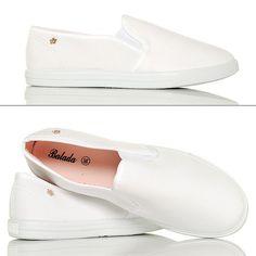 Rewelacyjne Lekkie Białe Slipony - www.BUU.pl #slipon #shoes #modadamska