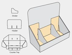 cardboard display counter - Buscar con Google