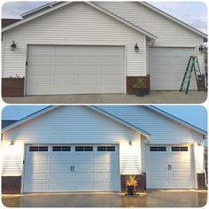 Garage door windows vinyl decals garage faux by for Dress up your garage door