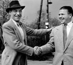 1954. Latabár Kálmán és Puskás Ferenc a Szabadság hegyen.
