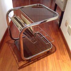 Usato Tavolino portariviste portabottiglie