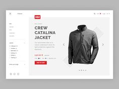 Helly Hansen product page by Armantas Zvirgzdas #Design Popular #Dribbble #shots