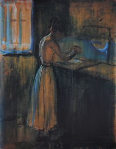 Munch, Edvard    Girl  herself - 1896-98