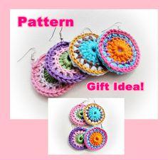 Colorful Crochet Earrings Pattern