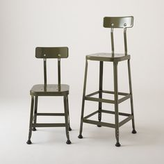 schoolhouse - backed utility stool