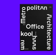 Rem Koolhaas on Behance