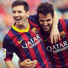 Messi and Fabregas  FC Barcelona