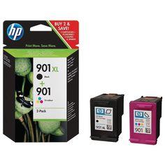 HP 901XL Black & HP 901 Colour Ink 2 pack set ink Cartridges original NEW box #hp