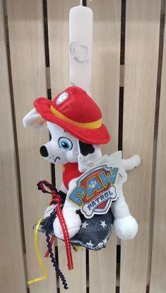 Πασχαλινή λαμπάδα Paw Patrol Marshall! #πασχαλινη_λαμπαδα #λαμπαδες #pawpatrol #marshall #handmadebyvalentina Paw Patrol, Smurfs, Snowman, Disney Characters, Fictional Characters, Art, Art Background, Kunst, Snowmen