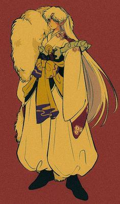 InuYasha (犬夜叉) A Feudal Fairy Tale (戦国御伽草子 犬夜叉) Sesshomaru Inuyasha Fan Art, Inuyasha And Sesshomaru, 90 Anime, Anime Art, Aesthetic Art, Aesthetic Anime, Animé Fan Art, Art Reference, Illustration