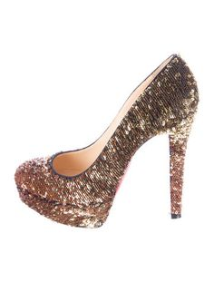 christian louboutin sequined pointed-toe pumps