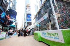 All the Bubbles with Just One SodaStream Bottle Tour NYC - Time Square - September 2011. http://www.sodastream.com/?utm_source=pinterest_medium=photo_campaign=cage