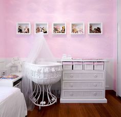 Baby girl nursery room decoration