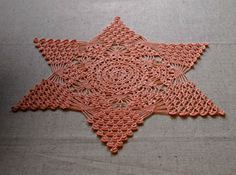NEW ;Unique crochet star-tablecloth; Verlen Crochet; Unique crochet doily; Beautiful crochet tablecloth; FREE SHIPPING