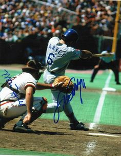Autographed Steve Garvey and Marc Hill Dual Signed 8x10 Photo