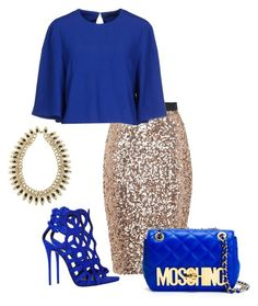 """Untitled #250"" by xoxo-maneshass on Polyvore featuring French Connection, Alexander McQueen, Moschino and Giuseppe Zanotti"