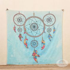 Dreamcatchers mandala wall tapestry