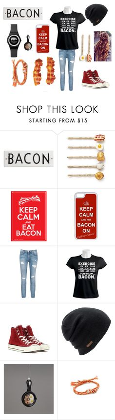 """""""I love Bacon❤️"""" by only-dreamer ❤ liked on Polyvore featuring Rosanna, Venessa Arizaga, CellPowerCases, Current/Elliott, Converse and Coal"""