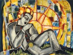 Jacqueline Ditt - Der Tag (The Day) - universal arts Galerie Studio - Grafik Druck Kunstdruck nach dem Gemälde universal arts Galerie Studio edition http://www.amazon.de/dp/B00K7A0YGI/ref=cm_sw_r_pi_dp_-pxMvb1MJ9G8Y