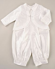 379ba8bff Romper and jacket Baptism Outfit, Christening Outfit, Beret, Romper, Ruffle  Blouse,