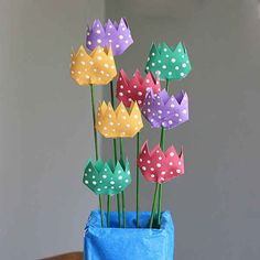 Toilet Paper Roll Tulips | 25 Toilet Paper Roll Crafts
