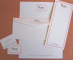 Letterpress business stationery suite