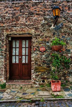 Colonia del Sacramento, Uruguay Patrimonio de la Humanidad Southern Cone, South Of The Border, South America Travel, Latin America, Doorway, Oh The Places You'll Go, Sacramento, Windows And Doors, Beautiful Places