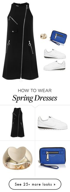 """""""bla"""" by abbey-ceee on Polyvore featuring NIKE, Jeremy Scott, GUESS, Marc Jacobs, women's clothing, women, female, woman, misses and juniors"""