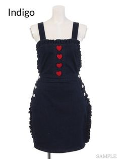 picture of Swankiss Denim Apron Dress 2