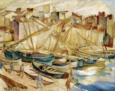 Port in Collioure, ca. 1926, Mela Muter (pseudonym of Maria Melania Mutermilch) (Polish-French painter) 1876 - 1967