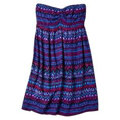 Xhilaration® Juniors Assorted Print Tube Swim Cover Up Dress.