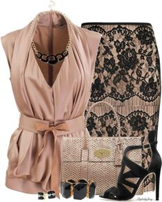 80 Elegant Work Outfit Ideas in 2017 - Are you looking for catchy and elegant work outfits? We all know that there are several factors which control us when we decide to choose something to. Fashionista Trends, Mode Outfits, Fashion Outfits, Womens Fashion, Fashion Trends, Skirt Outfits, Trendy Fashion, Fashion Fashion, Retro Fashion
