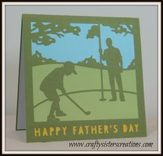 Father's Day card from Cricut Design Space subscription. www.craftysisterscreations.com