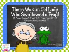 Are you excited for Spring? Trying to tie spring-themed activities and stories into your speech & language sessions? Then you will love this story companion! This companion is intended to be used with the book, There Was an Old Lady Who Swallowed a Frog by Lucille Colandro.
