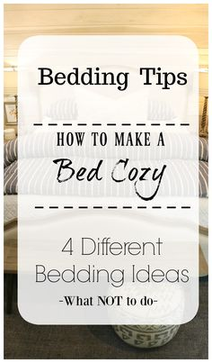 Answers to Most Asked Bedding Questions. Bedding Ideas- How to make a Bed Cozy- King Bed- Master Bedroom. Answers to your most asked bedding quesions! How to keep white bedding white. How to have a fluffy coxy bedding and how many pillows to use. Small Master Bedroom, Bedding Master Bedroom, Large Bedroom, Cozy Bedroom, Guest Bedrooms, Bedroom Decor, Cozy Master Bedroom Ideas, Bedding Decor, King Bedroom