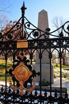 Thomas Jefferson's Grave marker at Monticello Cemetery, Charlottesville, VA