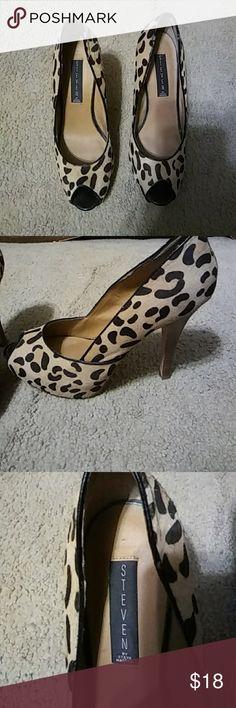 Steven by Steve Madden heels Leopard print Steve Madden Shoes Heels