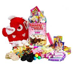 Large 'Sweets for my Sweet' Retro Sweet Jar with Love Monster £37.49 The Wedding Gift Company