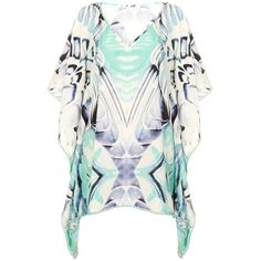 FEATHER & STONE Feathers Kaftan ($70) ❤ liked on Polyvore