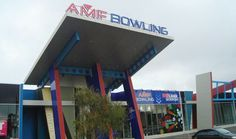 Brand Management for AMF Bowling – fabricated aluminium lettering, internally illuminated with LED lighting and Alucobond building cladding by Singleton Moore Signs www.smsco.com.au