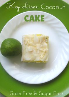 Try this delicious Gluten-Free and sugar-free Key Lime Coconut Cake! @ IntoxicatedOnLife.com #GrainFree #SugarFree