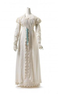 Pelisse and dress (c. 1818) Cotton lawn.(England) National Gallery of Victoria, Melbourne