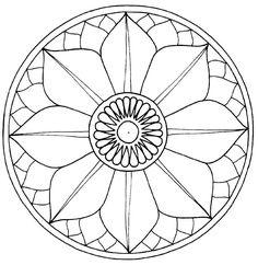 Lotus flower Mandala to color Mandalas Painting, Mandalas Drawing, Mandala Coloring Pages, Dot Painting, Colouring Pages, Zentangles, Adult Coloring Pages, Easy Mosaic, Mosaic Art
