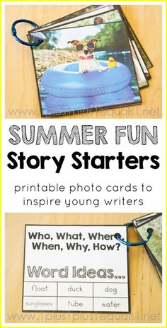 Inspire Me Story Starter Photo Cards - Summer Fun Theme from 1+1+1=1