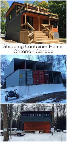This exquisite build is constructed out of 8 x Type Shipping Containers and is sure to attract those with a keen eye for energy efficiency. Sea Container Homes, Building A Container Home, Container Buildings, Storage Container Homes, Container Architecture, Container House Design, Tiny House Design, Tyni House, Tiny House Cabin